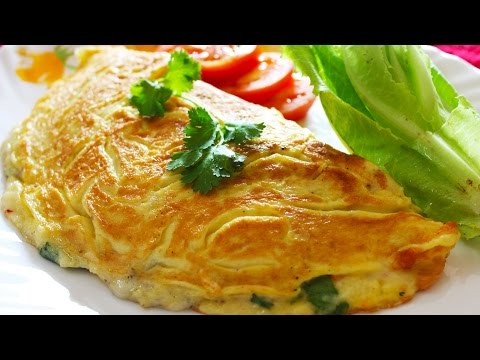 Cheese Omelette | Healthy Egg Omelette – Breakfast Recipe | Kanak's Kitchen