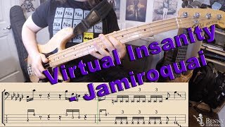 Jamiroquai   Virtual Insanity [BASS COVER]   With Notation And Tabs