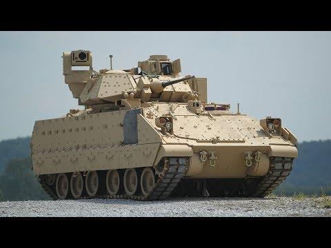 Ukázka amerického tanku M2 Bradley