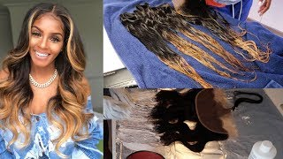How to bleach bundles from black to blonde with no damage   RHONDA WHITE INSPO