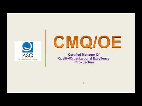 CMQ/OE course - YouTube