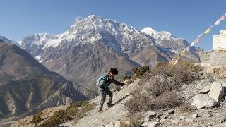 11-year old boy climbs Thorong La 5,416m/17,769ft -  Fun on the Annapurna Circuit trek, Nepal