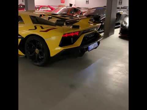 Lamborghini Aventador SVJ w/ Full iPE Exhaust System X Gold Titanium Muffler