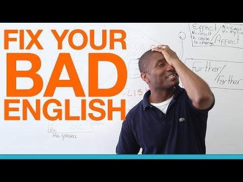Fix Your Bad English