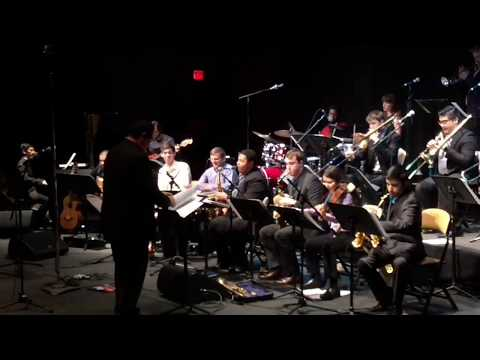 Playing lead alto with the University of Illinois Latin Jazz Ensemble in 2017 led by Tito Carrillo