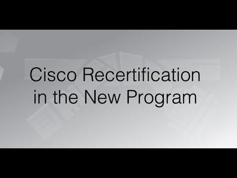 Cisco Recertification in the New Program - YouTube