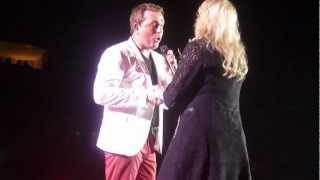 """Johnny Reid & Carolyn Dawn Johnson. """" Baby I know it.""""   Mile One  2012, May 19th."""