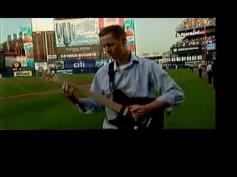 Patrick DeCoste performs the National Anthem at Shea Stadium