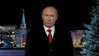 Новогодние поздравления Путина 1999 - 2016 (Eng SUB)