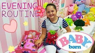 👶🏽 BABY BORN 🌛 EVENING ROUTINE - PIERWSZA KĄPIEL 💦