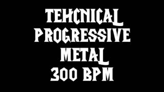 PROGRESSIVE TECHNICAL DEATH/THRASH (300BPM) {6/4 TIME SIGNATURE} FREE DRUM TRACK