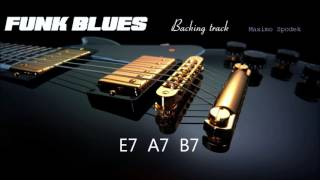 FUNK BLUES BACKING TRACK IN E
