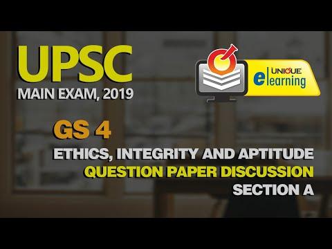 UPSC MAIN EXAM 2019 | General Studies Paper 4 - Ethics, Integrity & Aptitude | Aparna  Dixit