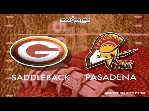 SCFA Football Week 3 :  Saddleback at Pasadena - 9/21/19 - 6pm