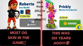 How to  get any skin from any time in subway surfers (and free promo codes)
