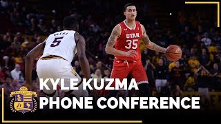 LISTEN: Kyle Kuzma chats with the LA media moments after being drafted