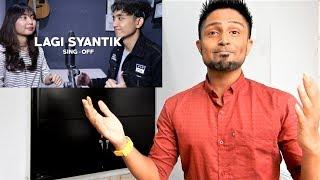 Siti Badriah - Lagi Syantik (SING-OFF) Reza Darmawangsa VS Salma REACTION