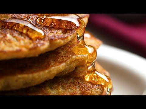 Banana Cornbread Pancakes