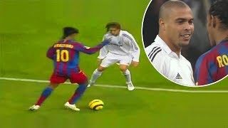The Day Ronaldinho Destroyed Real Madrid of Ronaldo Phenomenon