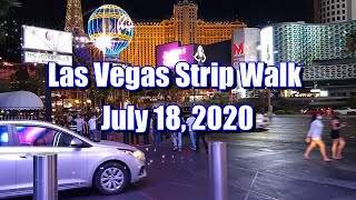 Walking The Las Vegas Strip On July 18 2020