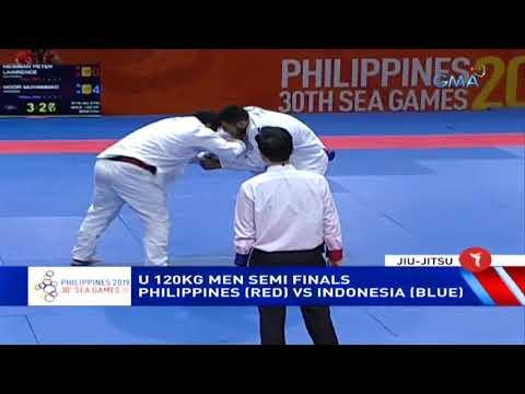 [GMA]  SEA Games 2019: Philippines vs. Indonesia in U 120kg men semi finals Jiu-Jitsu