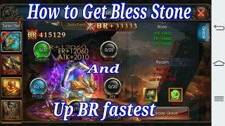 How to get Bless Stone And Grace Pet Up BR fastest.
