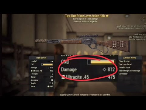 The BEST WEAPON in Fallout 76 - Lever Action Rifle location