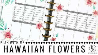 Plan With Me: Hawaiian Flowers | Plans By Rochelle