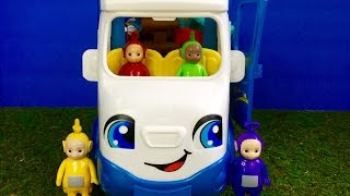 TELETUBBIES Toys Camping In Little People Van!