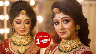 Indian Royal Bridal Makeover || Step By Step HD Makeup || By Mayuri Sinha Sarkar