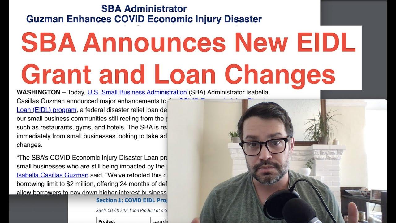 SBA Reveals New EIDL Grant and Loan Modifications thumbnail