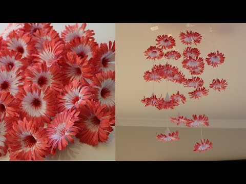 DIY Simple Home Decor – Hanging Flowers 3 – Handmade Decoration