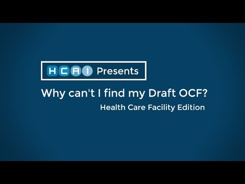 Health Care Facility - Provider Support - Track My OCF