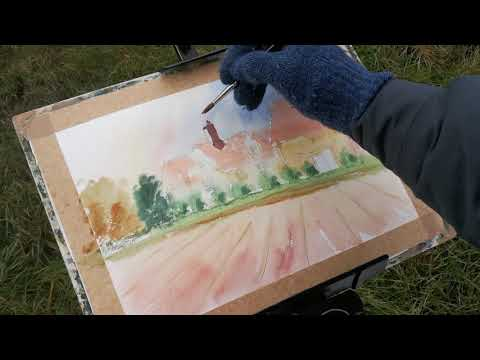 Thumbnail of How to Paint Old buildings Using Watercolour #colinsteedart