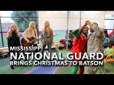 Video: Mississippi National Guard brings Christmas to Batson Children's Hospital