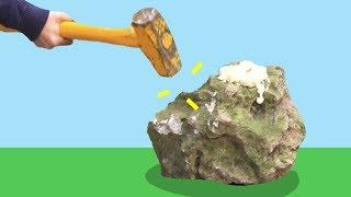 Bu Kayayı Kırabilir Misin? - İçinde Çeyrek Altın Var!