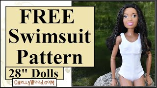 Free Doll Clothes Patterns: 28-inch Barbie Swimsuit Or Bathing Suit Sewing Pattern