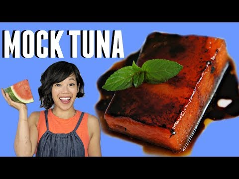 MOCK TUNA WATERMELON STEAK Recipe Taste Test