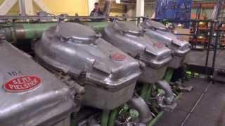 Start Giant Diesel Engine