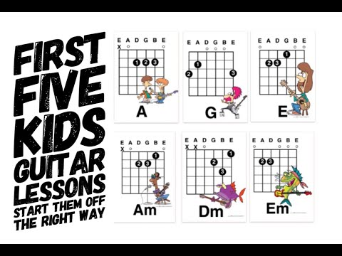 Guitar Lessons For Kids: First Five Lesson Plans and easy chords ...