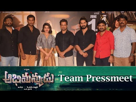 Abhimanyudu Movie Team Pressmeet