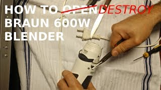 How to repair Braun 600W blender