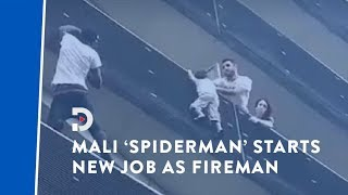 'Spider-Man's' first day as a fireman after rescuing child from a building