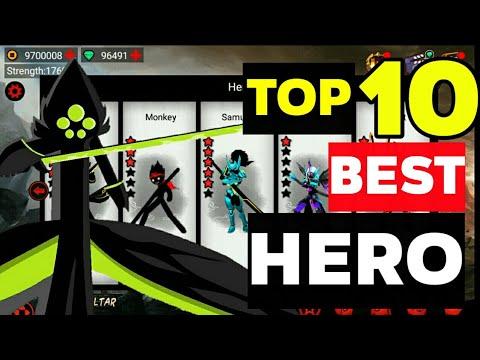 League Of Stickman   Top 10 Best Hero