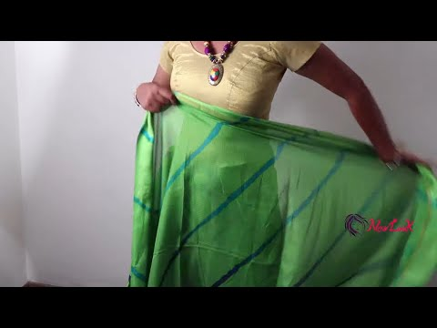 How to wear easy and simple saree only in 4 minutes - 2019