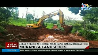 Landslide kills four in Murang'a village - VIDEO