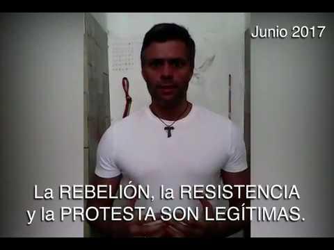 El líder opositor y preso político Leopoldo López grabó un vídeo desde la cárcel de Ramo Verde.