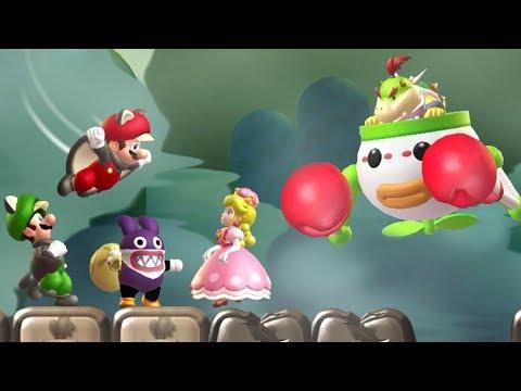 New Super Mario Bros  U Deluxe - All Bosses (4 Pla | Youtube