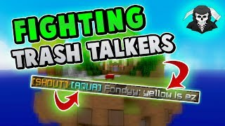 FIGHTING TRASH TALKERS ON HYPIXEL BED WARS!