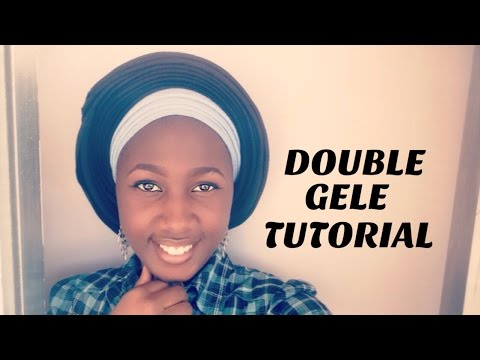 HOW TO TIE DOUBLE GELE // Two Scarves (VERY DETAILED)  | Candysmakeover